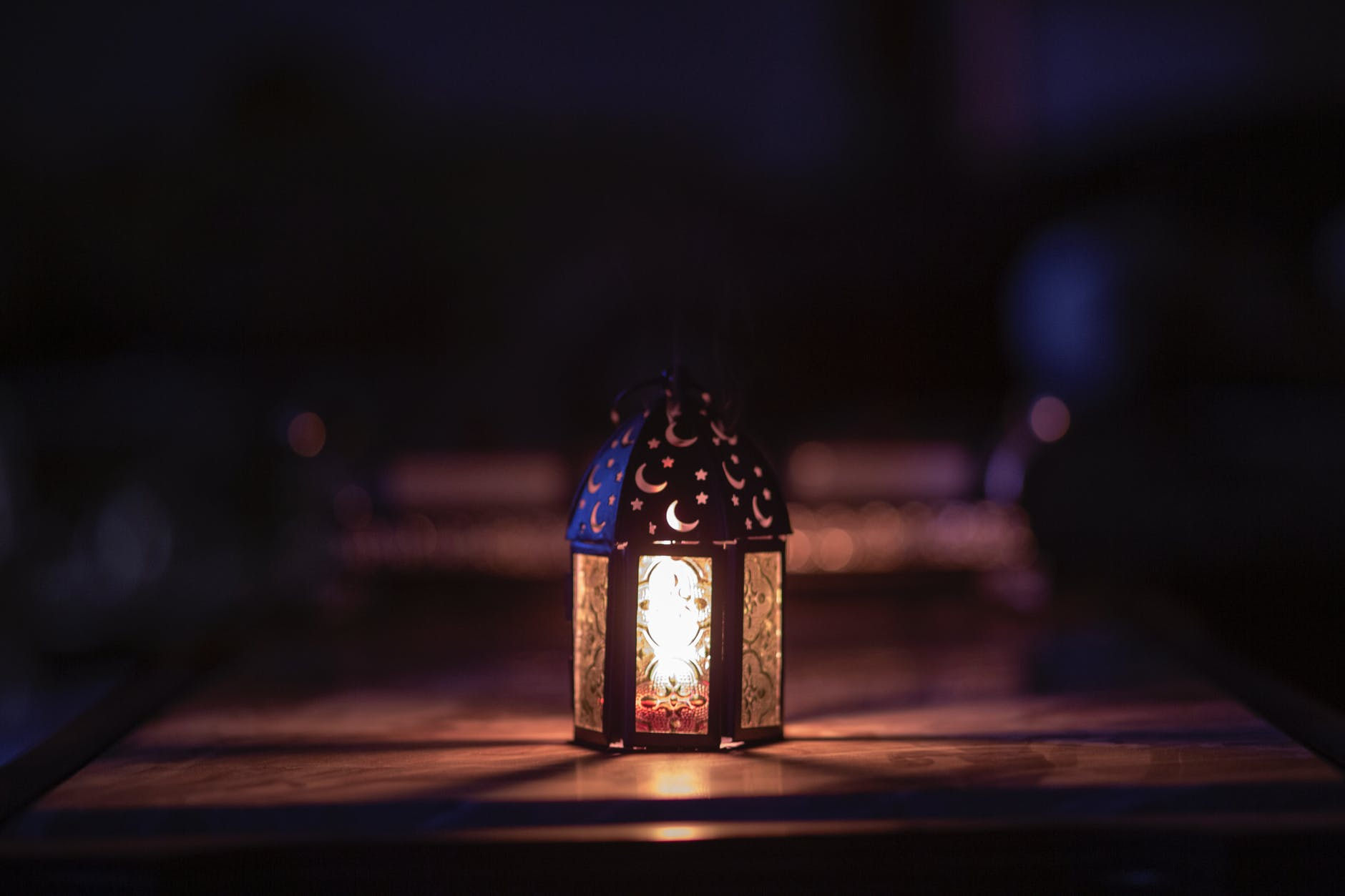 photo of turned on night lamp